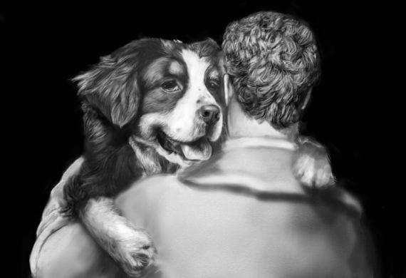 Abrazo de perro