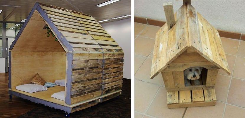 Casas de perro hechas con palets for Como hacer una caseta de jardin barata