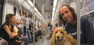 Perros en el metro de Madrid