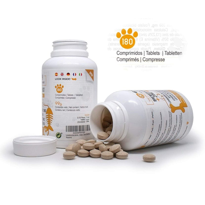 comprimidos levadura para la salud del perro